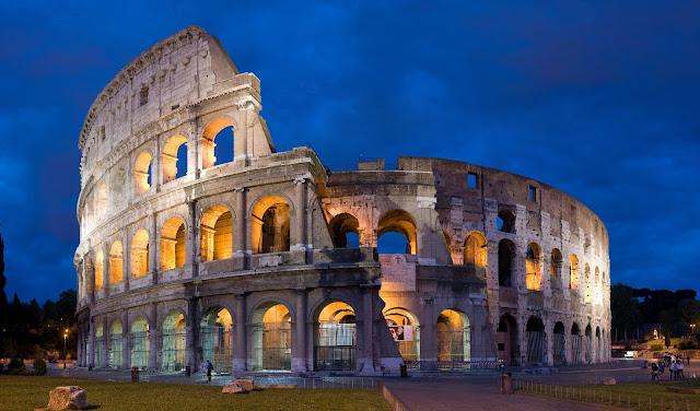 كولوسيوم, روما, الغسق, بانوراما, أفضل الصور