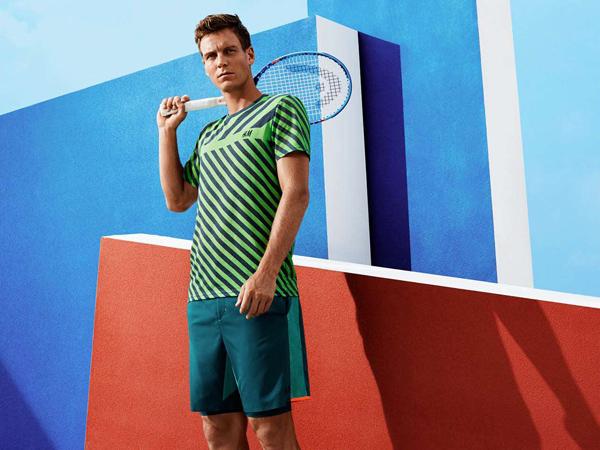 Tomas Berdych para H&M camiseta y pantalón corto tenis