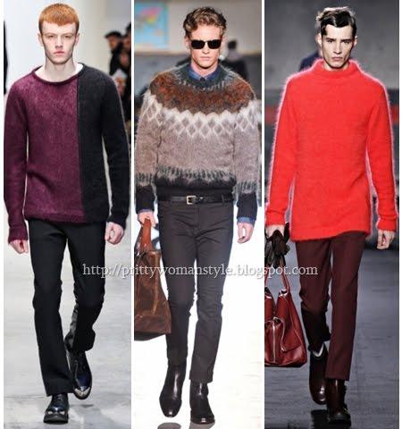 Пухкави мъжки пуловери 2013