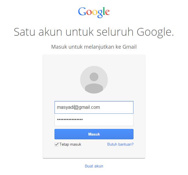 Cara login email Gmail dengan Gampang