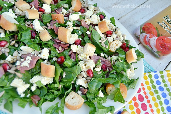 ... Salads around ! Serve this Bacon Spinach and Feta Salad for lunch, as