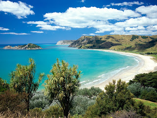 Anaura Bay, Gisborne, New Zealand Stock Photos