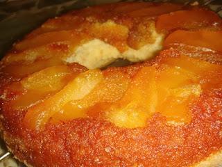 Torta Invertida de Duraznos, Recetas Faciles, Postres