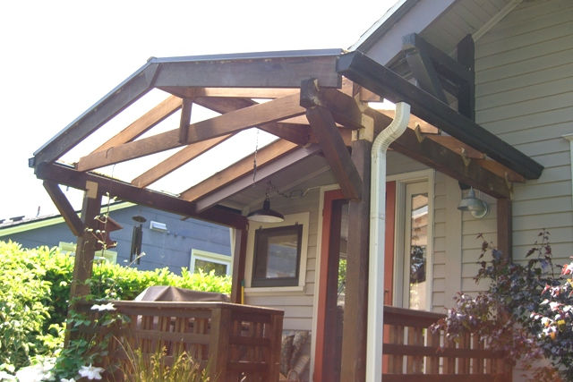 Porch Roofing   Clear Plastic