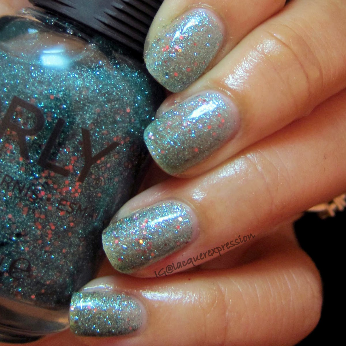 swatch of steal the spotlight nail polish by orly