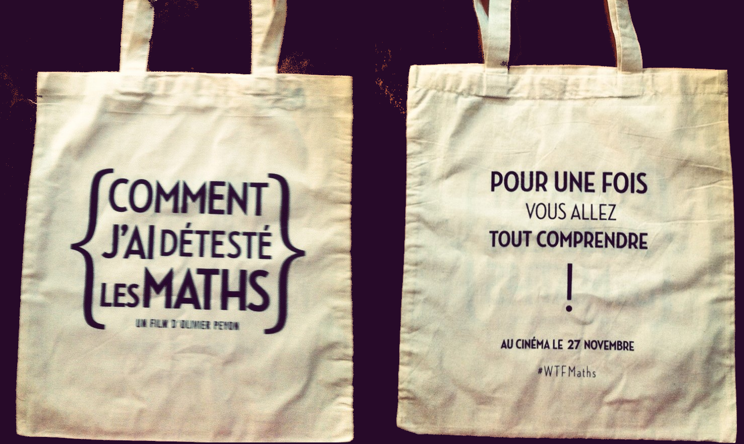 concours comment j 39 ai d test les maths gagnez 15 tote bags du film sweet random science. Black Bedroom Furniture Sets. Home Design Ideas