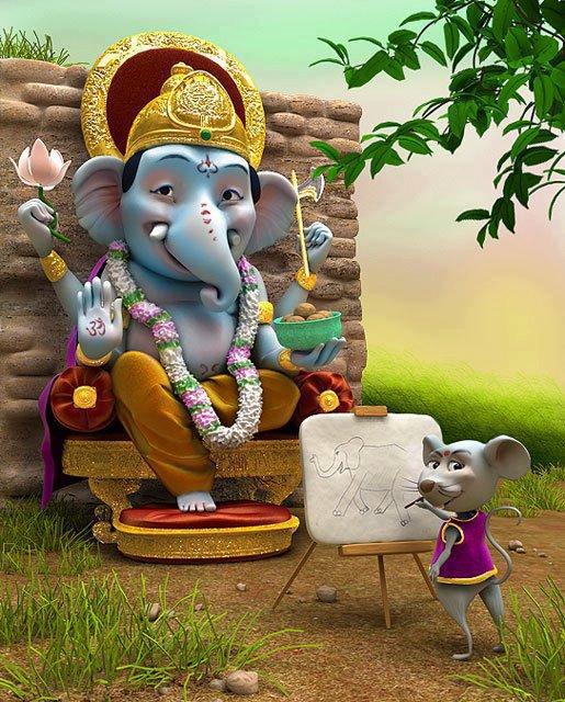 facebook passion cute ganesha vibrant statue wallpaper