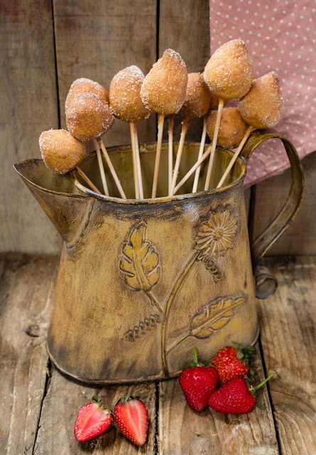 Buñuelos-fresas