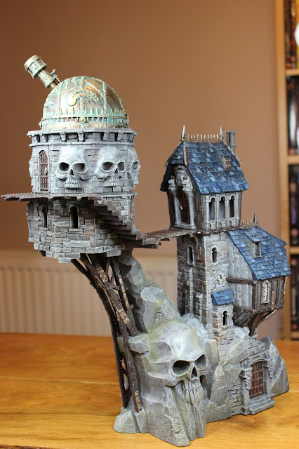 Skullvane Manse Warhammer scenery - finished model