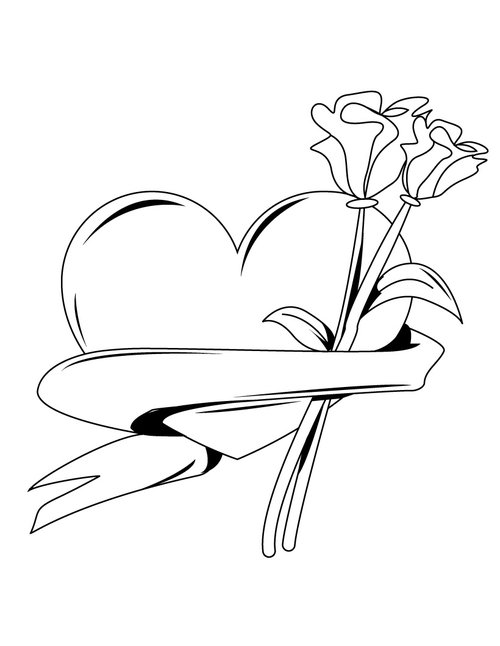 love heart coloring pages - photo#14