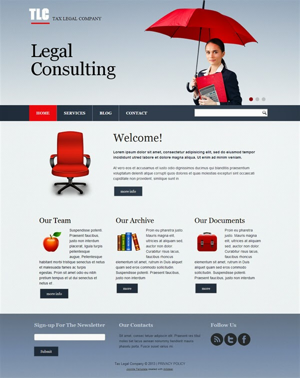 TLC Tax Legal Company - Free Joomla! Template