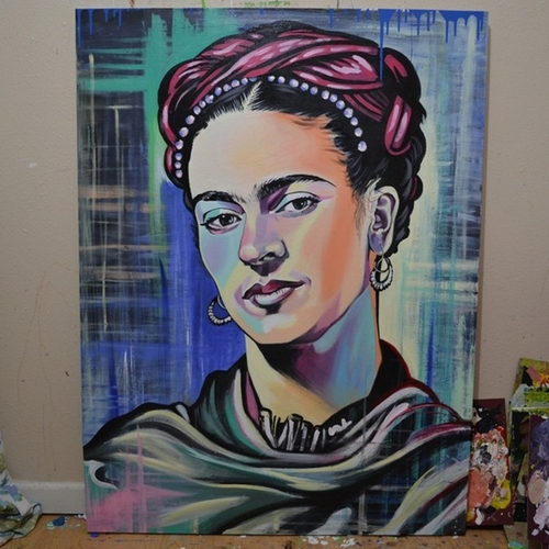 14-Frida-Kahlo-Jonathan-Harris-Celebrity-Paintings-Images-and-Videos-www-designstack-co