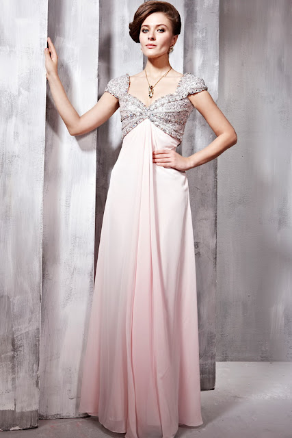 prom dress with cap sleeves
