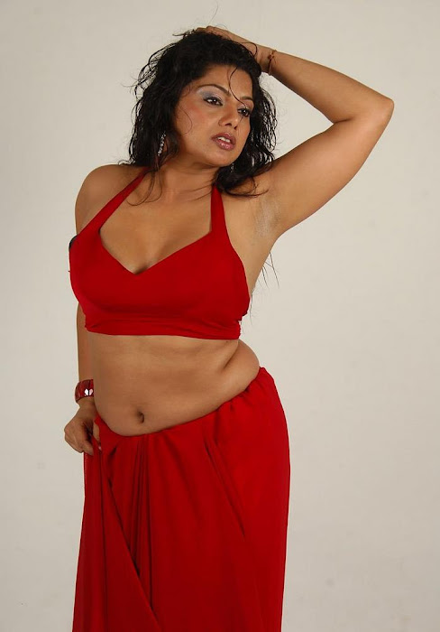 swathi varma ,armpit in red saree