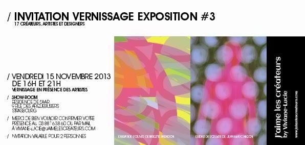 Invitation Vernissage Exposition 3 Le Vendredi 15 Novembre 2013