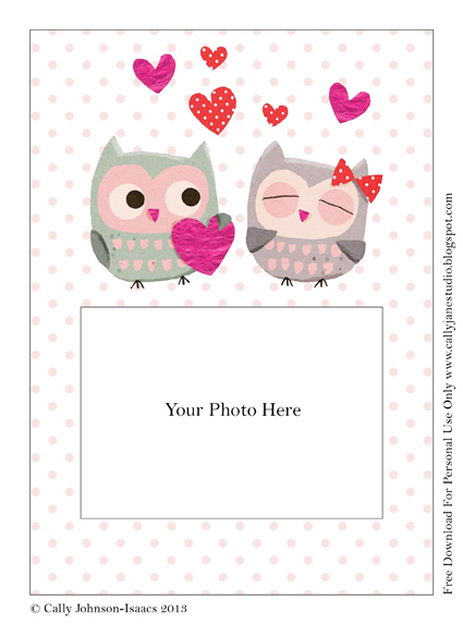 We Love to Illustrate: Free printable Valentine photo ...