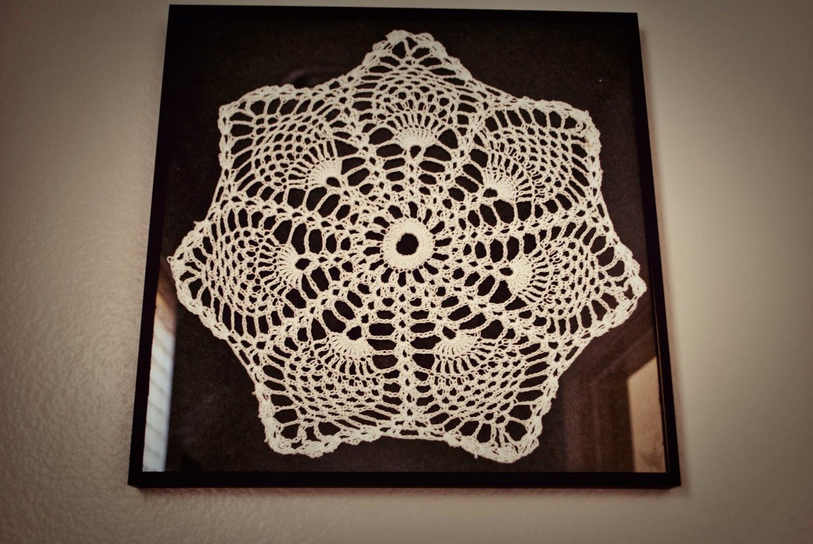 Maya\'s Wonderland: Framed crochet doilies wall art