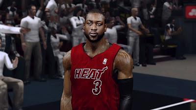 Realistic NBA 2K13 Dwyane Wade Face Mods