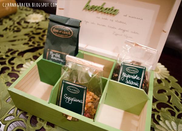 Zielona herbaciarka