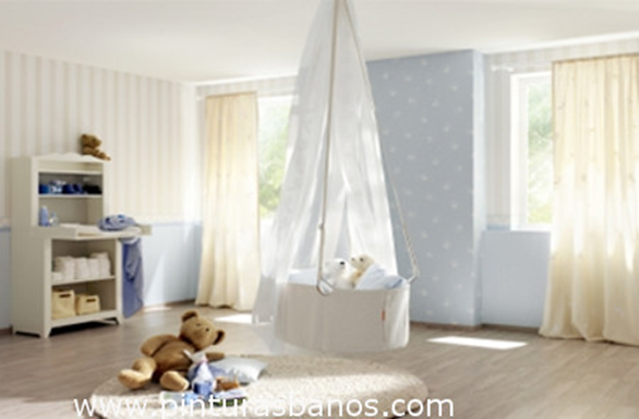 Pinturas ba os decoraci n habitaci n de bebe for Decoracion habitacion bebe pintura