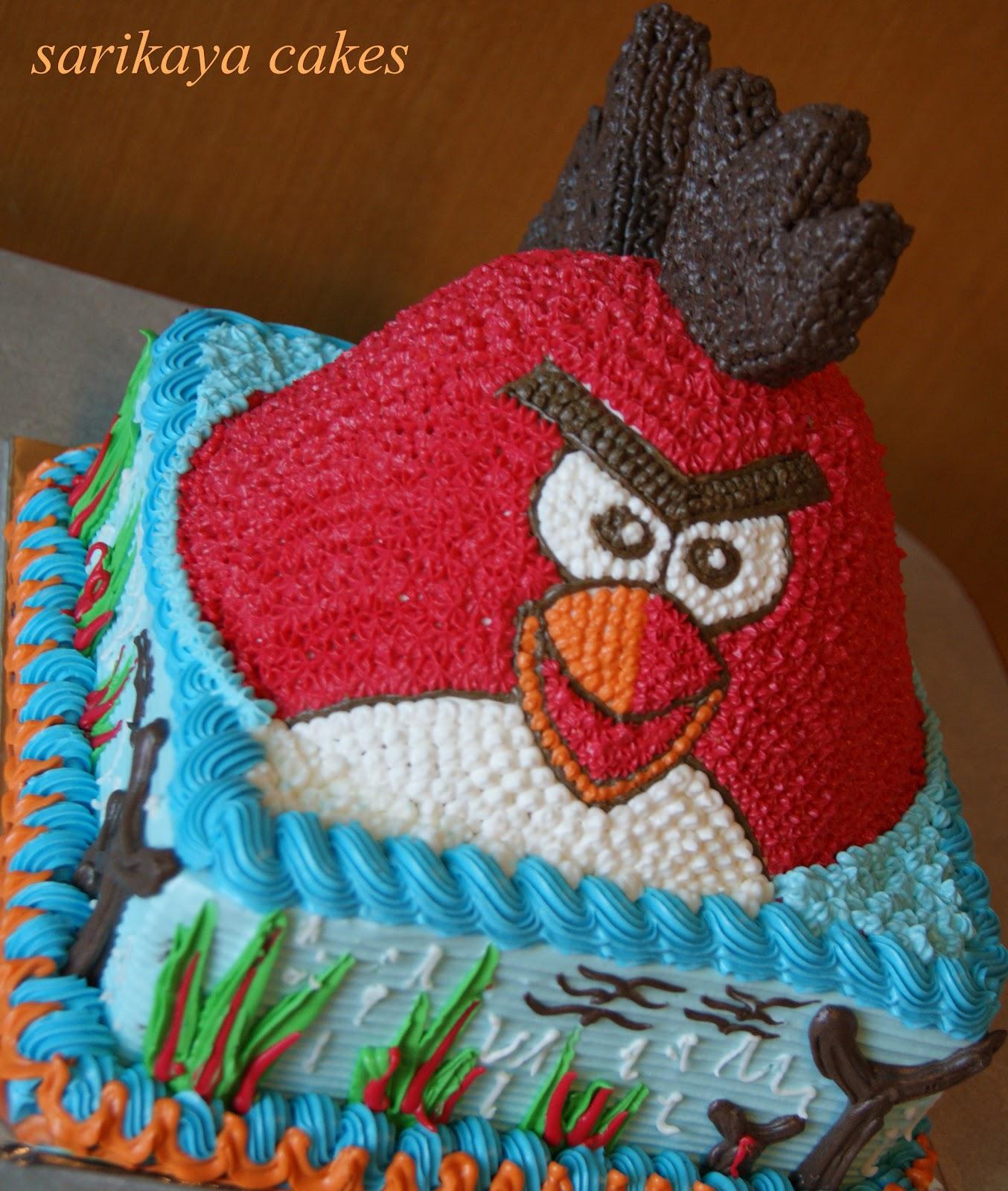 KUE ULANG TAHUN ANGRY BIRD BY SARIKAYA CAKES