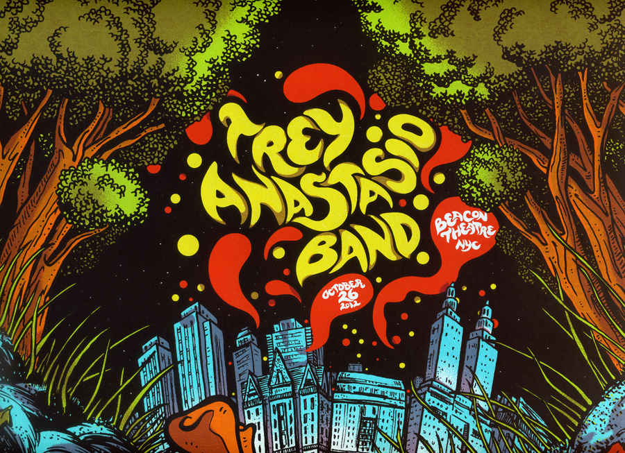 Inside The Rock Poster Frame Blog Trey Anastasio Band