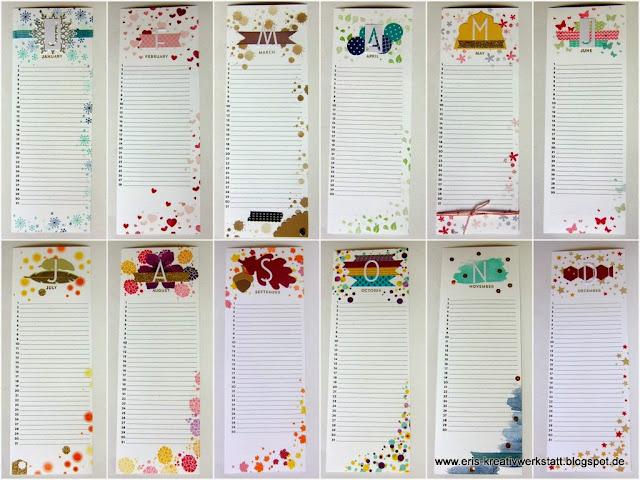 eri 39 s kreativwerkstatt immerw hrender kalender mit. Black Bedroom Furniture Sets. Home Design Ideas
