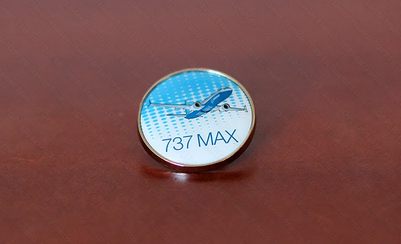 Broches o 'pin' de aviación - Boeing 737 MAX