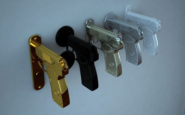 Creative Doorknob Band Bang Pistol