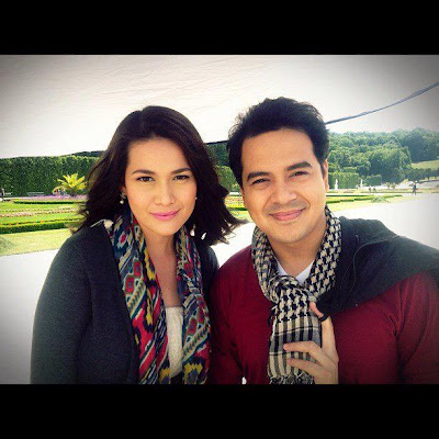 John lloyd Cruz and Bea Alonzo A Beautiful Affair Teleserye shoot in Vienna, Austria