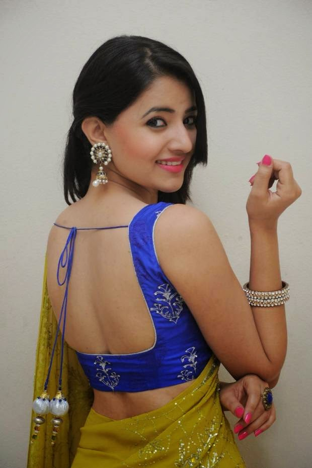 Ruksar Meer In Green Half Saree Photoshoot Stills