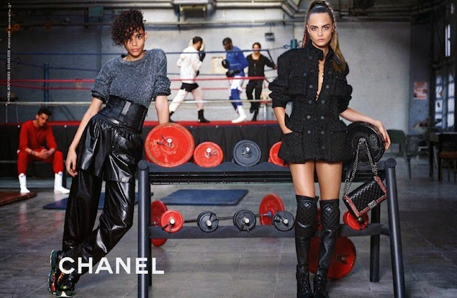 Cara Delevingne and Leona Binx Walton fronts Chanel Fall 2014