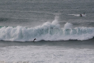 Huge wave surfing Newquay