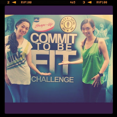 Trisha Sebastian Commit to be Fit Challenge in Gold's Gym.