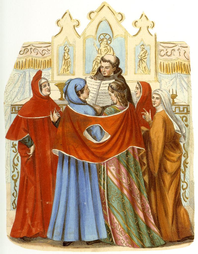 Casamento na igreja na Idade Média