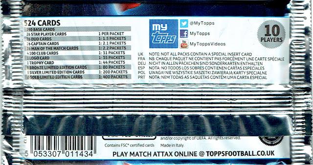 Topps Match Attax Championnat 2015-2016 CARTE Nº 286 ERIC Maxim CHOUPO-MOTING