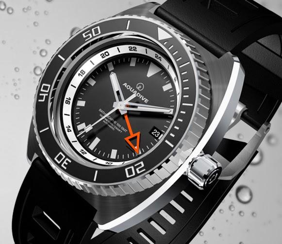 Aquadive - Bathysphere 100 GMT Turquoise Aquadive+Bathysphere+100+GMT+WhiteOrange