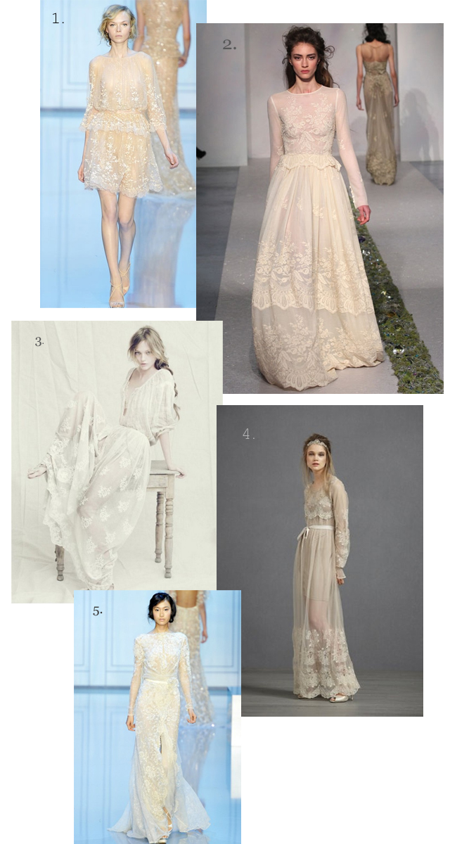 Anyone see themselves in a long sleeved dress 1 Elie Saab via Wedding