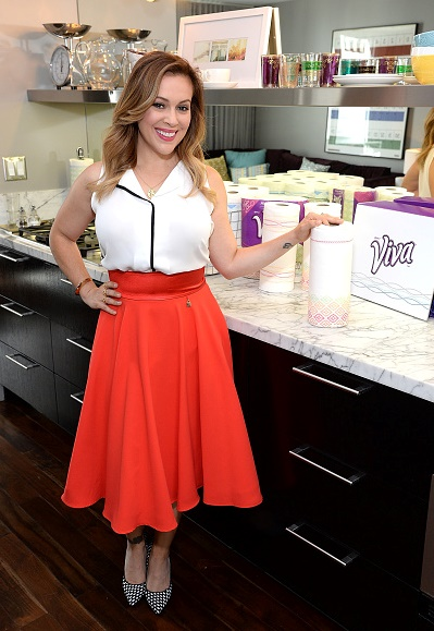 Alyssa Milano Sleeveless Blouse