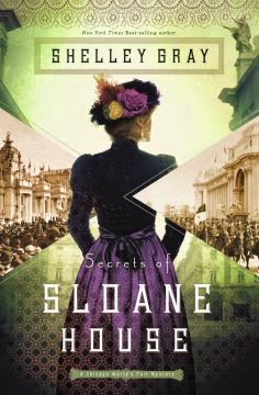 book review of Secrets of Sloane House by Shelley Gray (Zondervan) by papertapepins