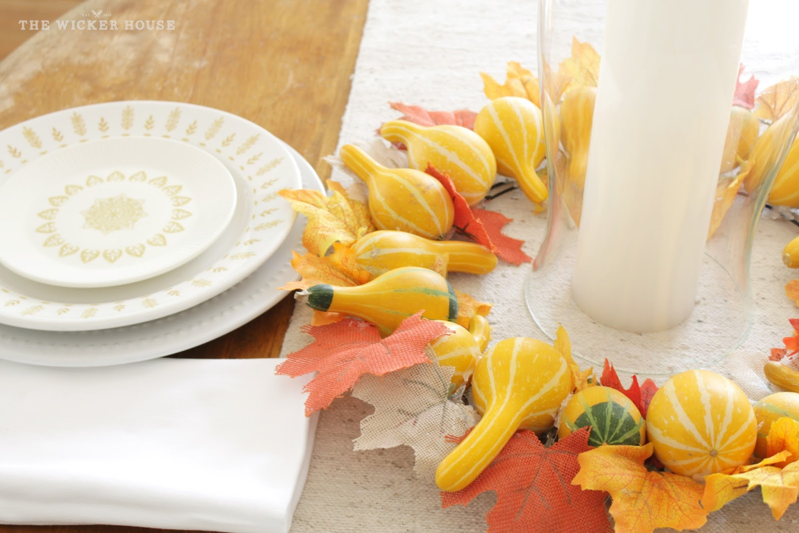 How to make a gourd wreath or centerpiece the wicker house