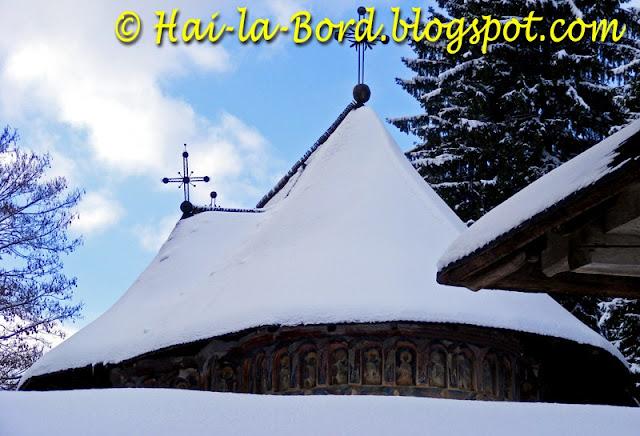 manastirea humor iarna
