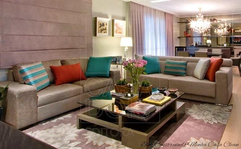 Sala De Estar Turquesa ~  Casa Clean Decoração Turquesa! Tendência de Beleza na Decoração
