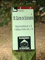 Plafó informatiu de l'ermita de ant Quirze de Subiradells