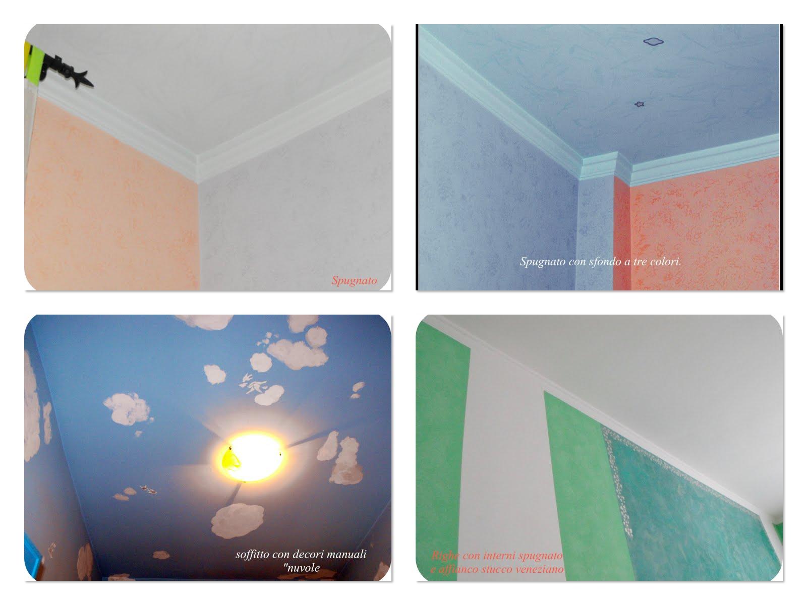 I colori di casa la tecnica dello spugnato - Colori pittura interni casa ...