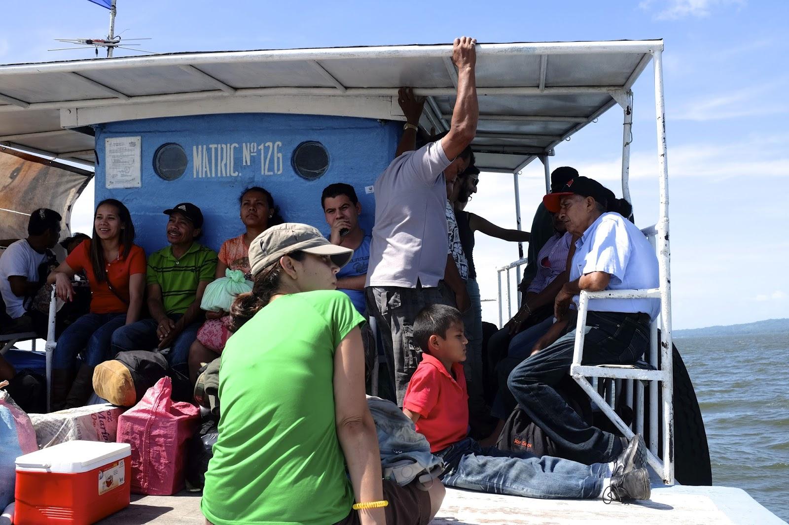 Barque entre San José et Ometepe