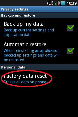 gambar menu setting factory data reset