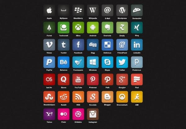 Web media psd icon creative design