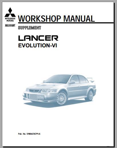 1999 lancer evo 6 workshop manual heavy equipment workshop manuals rh heavyequipmentworkshopmanuals blogspot com Professional Workshop Manuals Store Workshop Manual