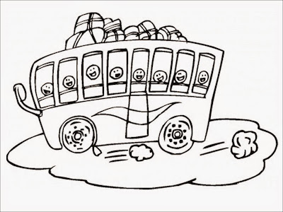 public bus coloring pages